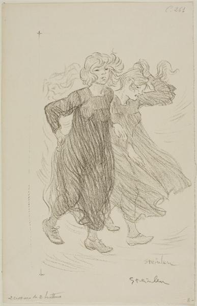 Le Coup de Vent, 1905 - Theophile Steinlen