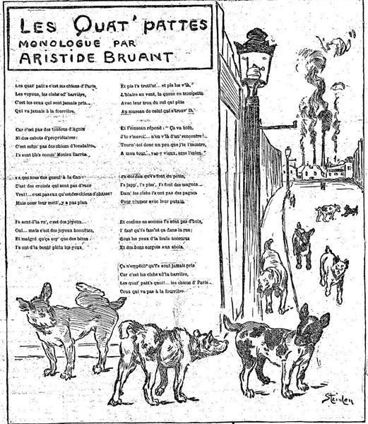 Les Quat Pattes, 1891 - Theophile Steinlen