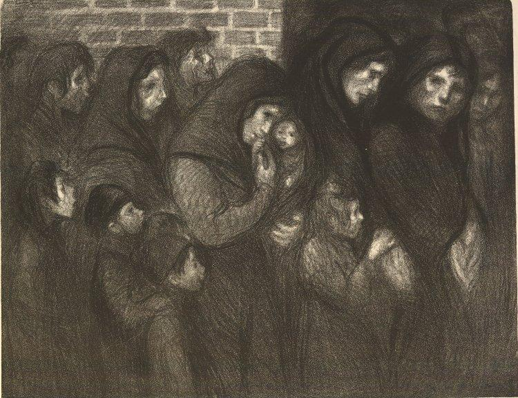 Les Veuves de Courrieres, 1909 - Теофиль Стейнлен
