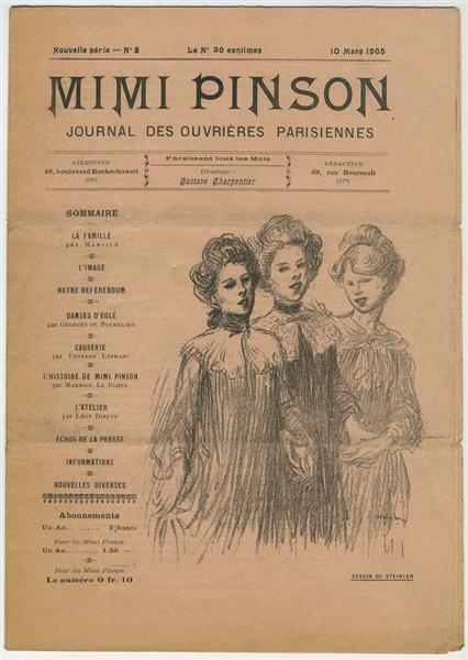 Mimi Pinson - Theophile Steinlen