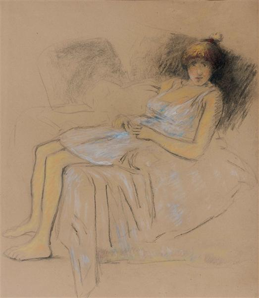 Model at rest - Theophile Steinlen