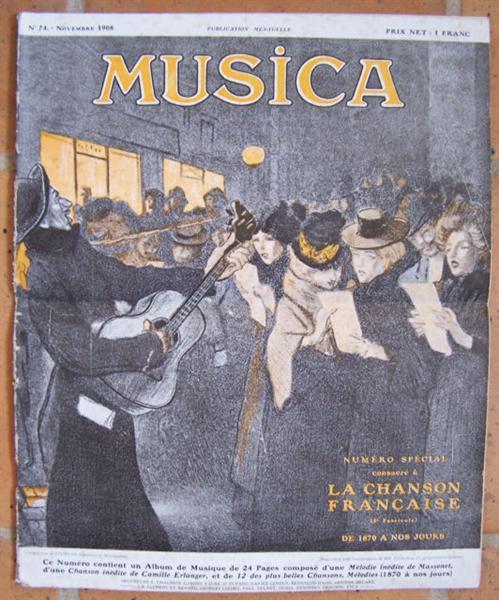 Musica, 1908 - Theophile Steinlen