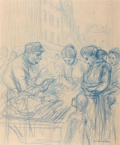 Organ player - Theophile Steinlen