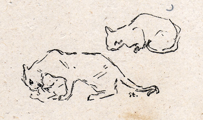 Playful Cats - Theophile Steinlen