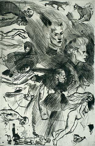 Sketch plate - Theophile Steinlen