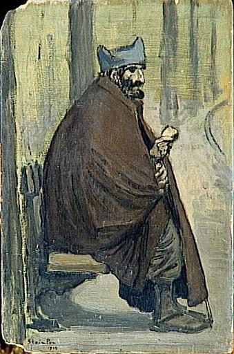 Soldat Convalescent Assis, 1916 - Theophile Steinlen