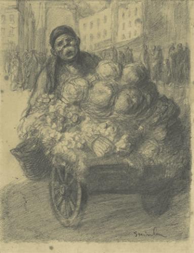 Steet Vendor - Theophile Steinlen