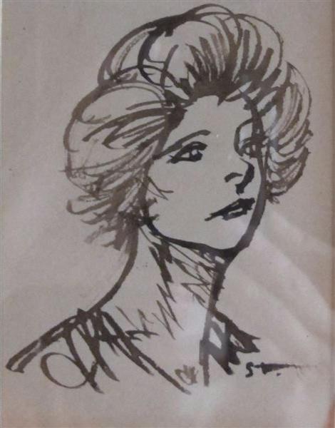 Tete de Femme - Théophile-Alexandre Steinlen