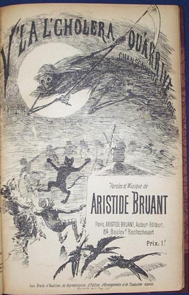V'La L'Cholera Qu-arrive, 1885 - Theophile Steinlen