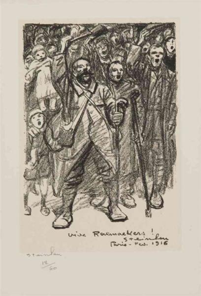 Vive Raemaekers, 1916 - Theophile Steinlen