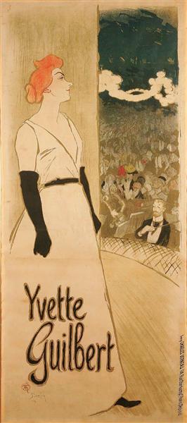 Yvette Guilbert, 1894 - Théophile Alexandre Steinlen