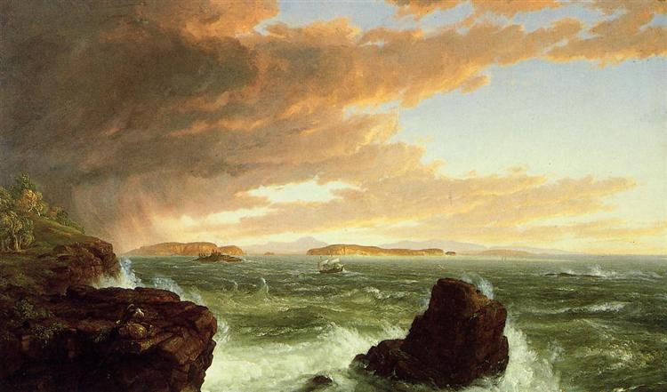 View Across Frenchman`s Bay from Mount Desert Island, After a Squall - Thomas Cole