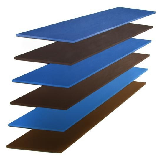 Brown and Blue Plank, 1968 - Thomas Downing
