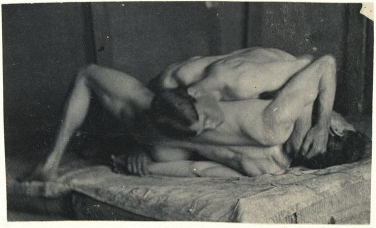 Photograph study for The Wrestlers - Thomas Eakins