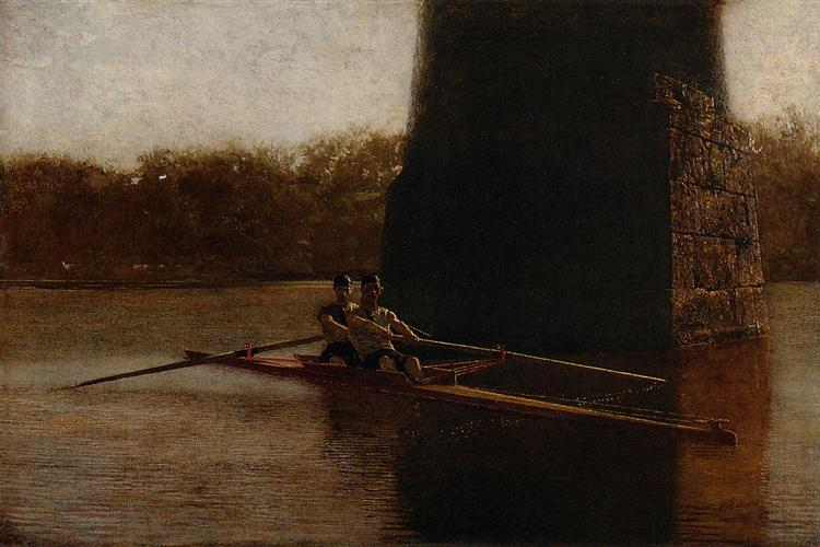 The Pair Oared Shell, 1872 - Thomas Eakins