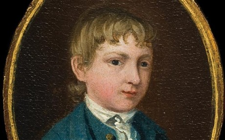 The miniature portrait of a young boy (supposed self-portrait), c.1737 - Thomas Gainsborough