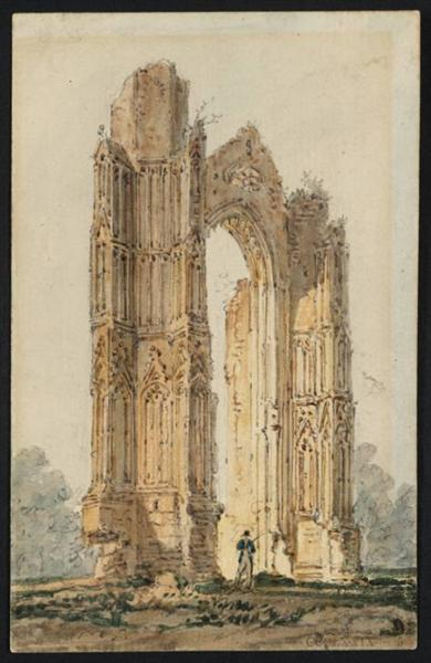 Part of the Ruins of Walsingham Priory, 1797 - Thomas Girtin