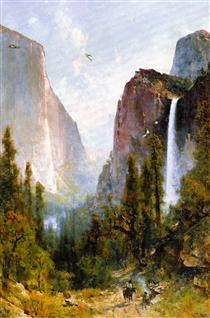 Bridal Veil Fall, Yosemite Valley - Thomas Hill