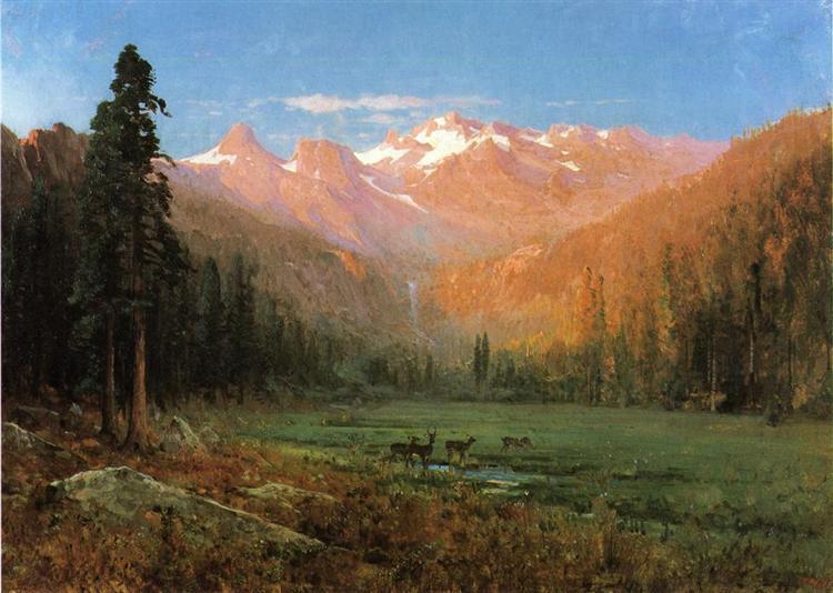 View of Cascade Lake, near Tahoe, 1874 - Thomas Hill