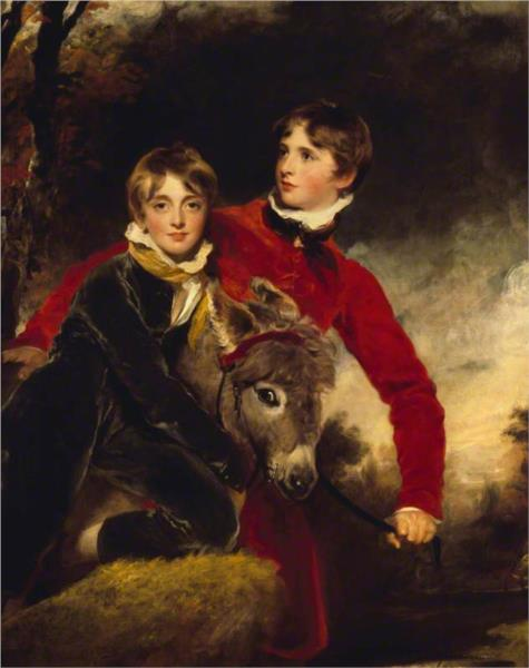 The Masters Pattison. William Henry Ebenezer Pattison, and His Brother Jacob Howell Pattison - Thomas Lawrence