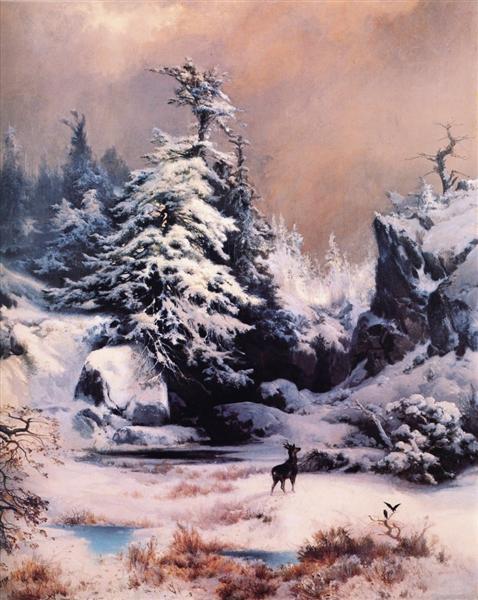 Winter in the Rockies, 1867 - Thomas Moran