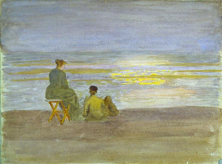 Man and Woman on the Beach, 1893 - Томас Поллок Аншутц