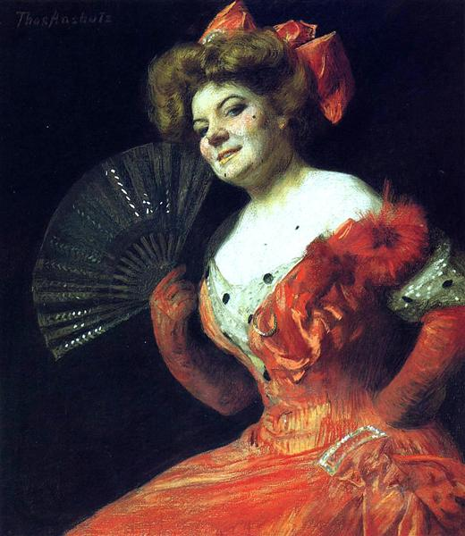 Portrait of Katharine Rice, 1900 - Томас Поллок Аншутц