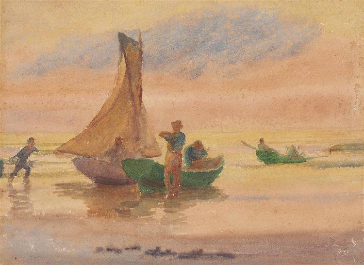 Sunset Glow (recto), 1897 - Томас Поллок Аншутц