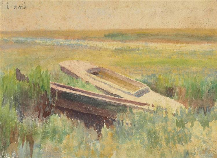 Sunset Glow (verso), 1897 - Thomas Pollock Anshutz