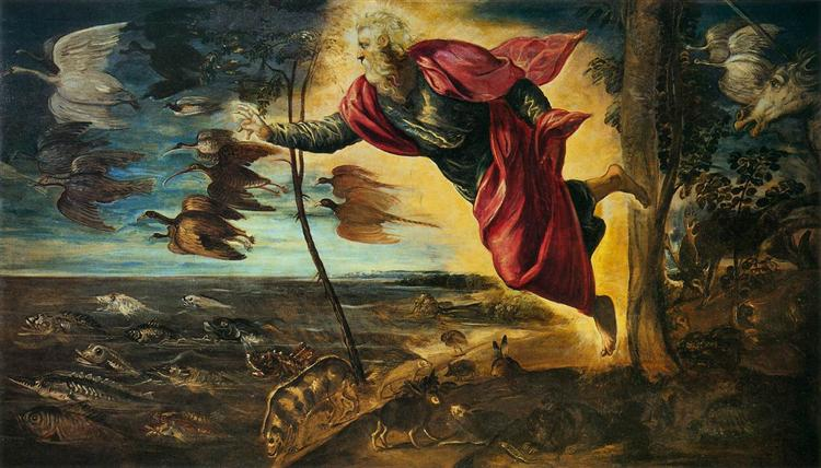 Creation of the Animals, 1551 - Tintoretto