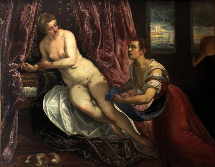 Danaé, c.1577 - 1578 - Le Tintoret