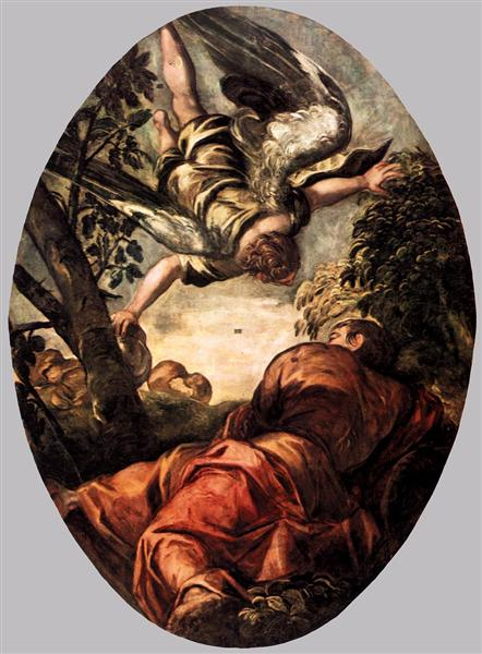 Elijah Fed by the Angel, 1577 - 1578 - Тінторетто