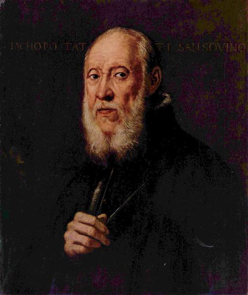 Portrait of the sculptor Jacopo Sansovino, 1560 - 1570 - Tintoretto