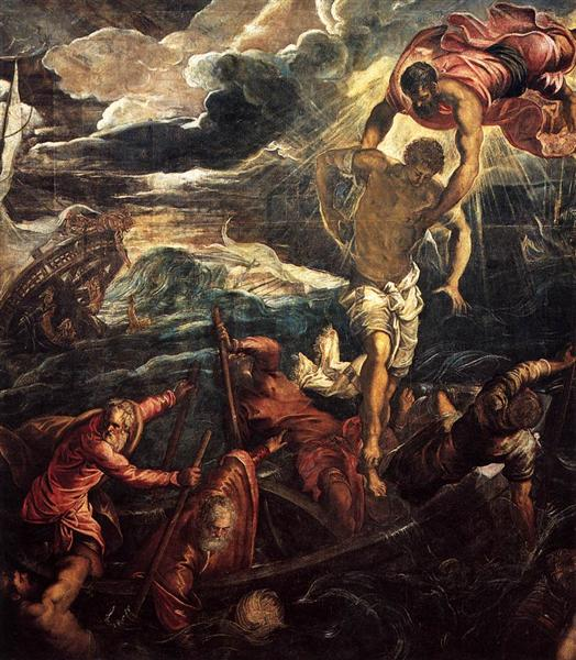 St Mark Rescuing a Saracen from Shipwreck, 1562 - 1566 - Tintoretto