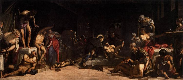 St Roch in the Hospital, 1549 - Tintoretto