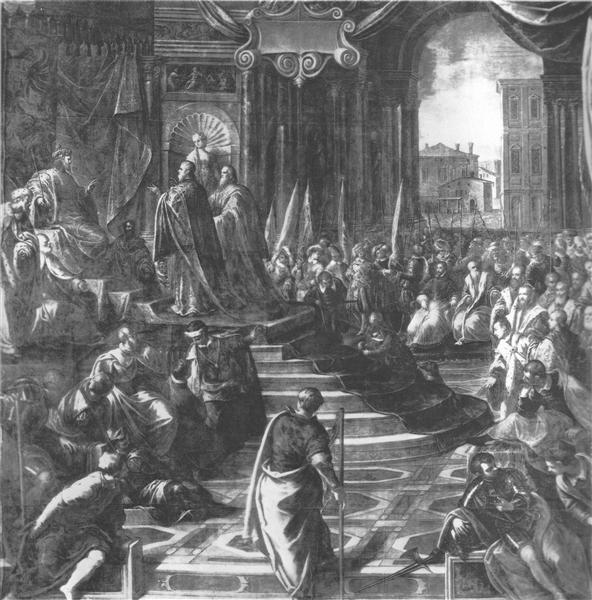 The Venetian ambassador to Barbarossa - Tintoretto