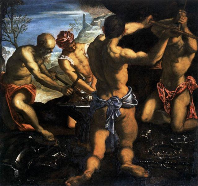 Vulcan's Forge, 1576 - 1577 - Tintoretto