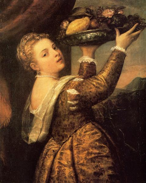 Girl with a Basket of Fruits (Lavinia), 1555 - 1558 - Titian