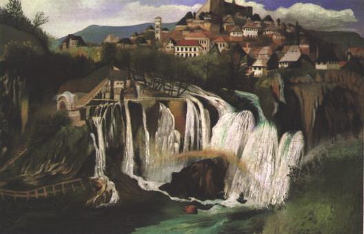 Waterfall at Jajce, 1903 - Tivadar Kosztka Csontvary