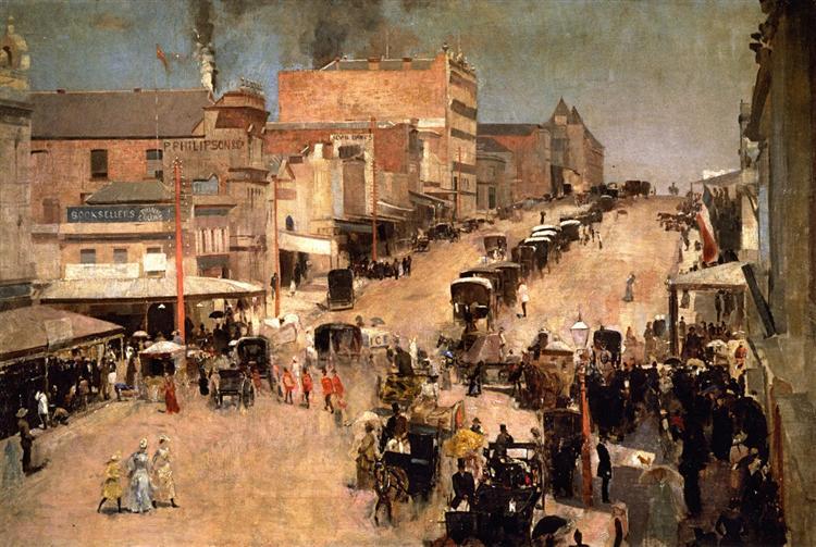 Allegro con brio, Bourke St. West, 1890 - Tom Roberts