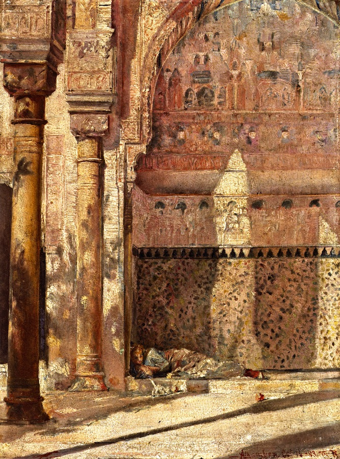 Basking - A Corner in the Alhambra, 1883