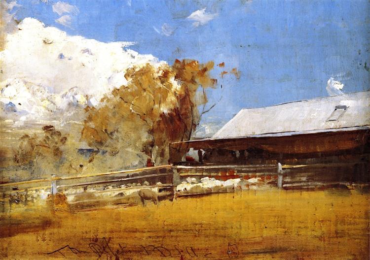 Shearing Shed, Newstead, 1894 - Tom Roberts