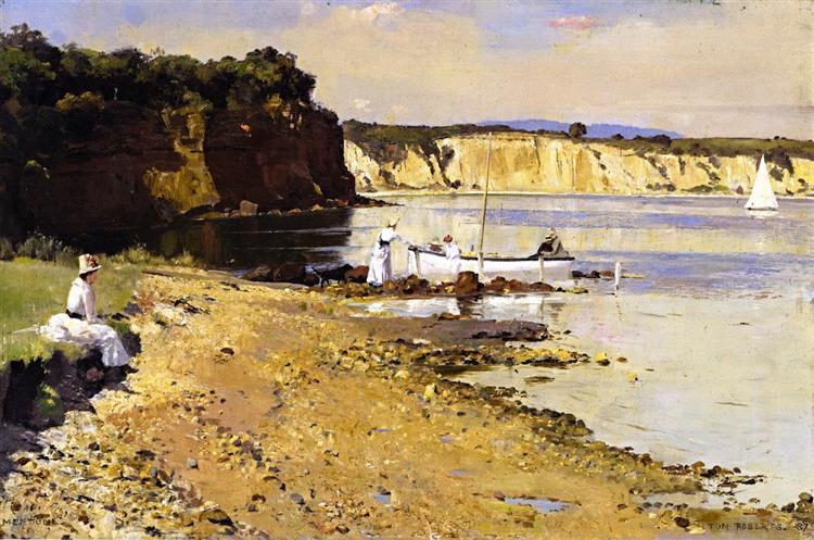 Slumbering Sea, Mentone, 1887 - Tom Roberts