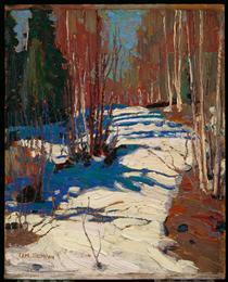 Path Behind Mowat Lodge - Tom Thomson