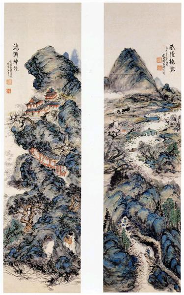 Earthly paradise and sacred mountains, 1924 - Tomioka Tessai