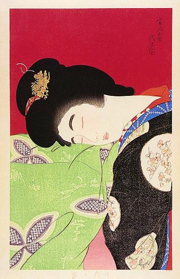 Taking a Nap, 1933 - Torii Kotondo
