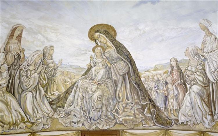 La Vierge et l'enfant - Tsuguharu Foujita