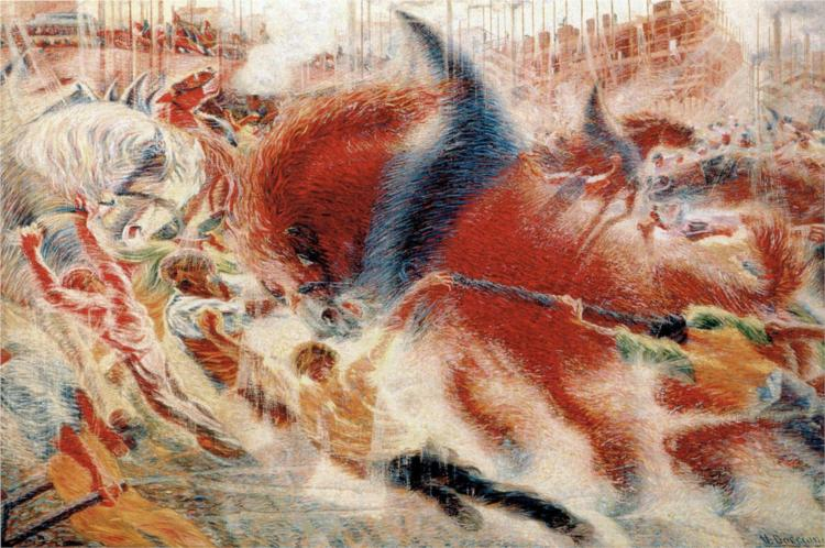 The City Rises, 1910 - Umberto Boccioni