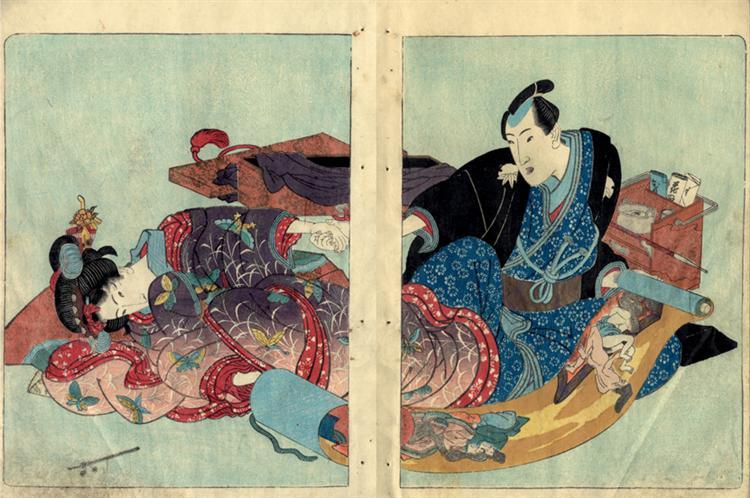Four seasons: Spring, Summer, Autumn, Winter - Utagawa Kunisada