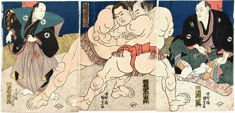 Sumo - Utagawa Kunisada